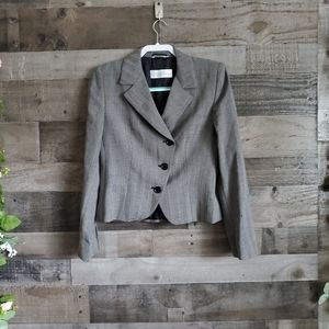Max Mara Grey Wool Blazer Size 8 Made in Italy